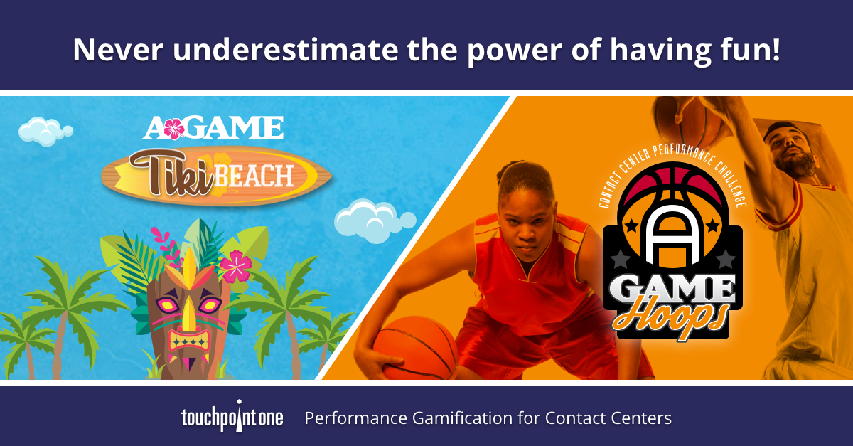 Contact Center Engagement Sizzles with A-GAME Hoops and Tiki Beach Performance Challenges
